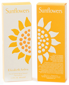 Elizabeth Arden's Limited Edition Sunflowers perfume box