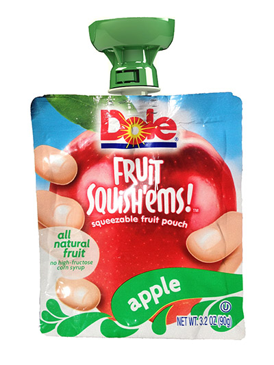 Trust-T-Lok on the Dole apple sauce pouch product.