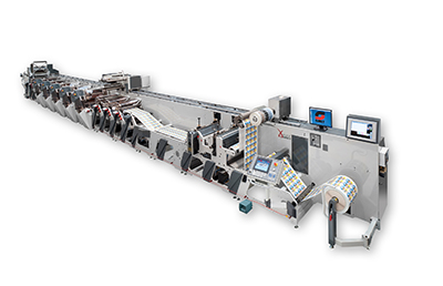 Omet XFlex press with Offset Sleeve Units